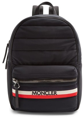 Moncler New George Quilted Backpack - Mens - Black Multi
