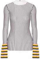 Emilio Pucci Striped Ribbed-Knit Sweater
