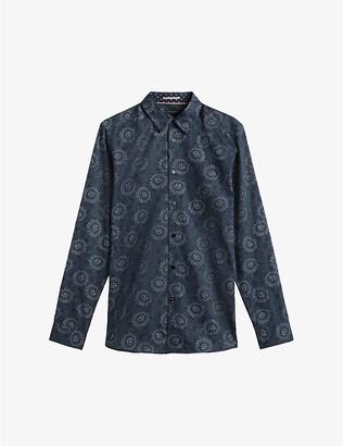 Ted Baker Crislon floral-print cotton shirt