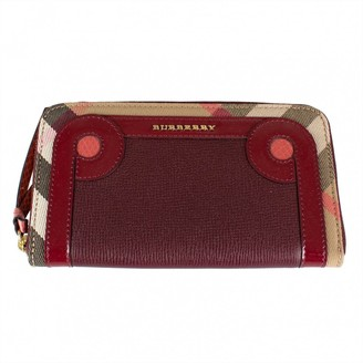 Burberry Red Leather Wallets