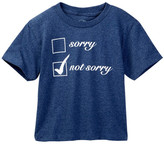 Kid Dangerous Sorry Not Sorry Tee (Toddler & Little Boys)