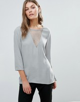 Selected Emro Lace Insert Top