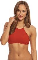 Red Carter Friendship Bracelet High Neck Bikini Top 8156678