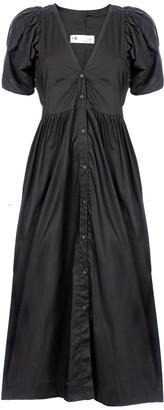 Naftul Oasis Button Down Maxi Dress, Black.