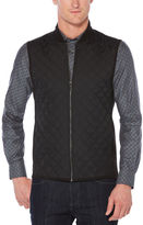 Perry Ellis Big and Tall Quilted Full-Zip Vest