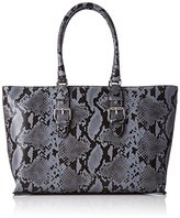 Armani Jeans Borsa Shopping, Women's Shoulder Bag, Blau (Avio), 28x10x38 cm (B x H T)