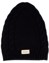 Gucci Cable-knit Wool And Cashmere-blend Hat