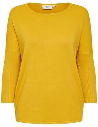Saint Tropez Knit Sweater With Ribbed Sleeves Sulphur - XS / Sulphur