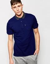 Ben Sherman Polo Shirt With Contrast Collar - Blue