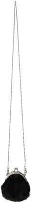 Y's Ys Black Calf-Hair Clasp Necklace Pouch