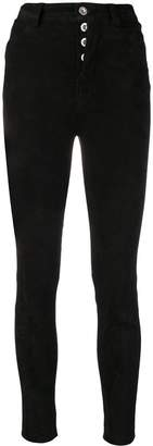 Unravel Project skinny suede jeans