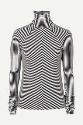 Haider Ackermann Striped Wool Turtleneck Sweater - Black