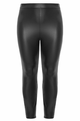 Yours Clothing Womens Plus Size Coated Look Leggings