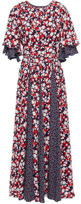 Gül Hürgel Pleated Printed Woven Maxi Dress
