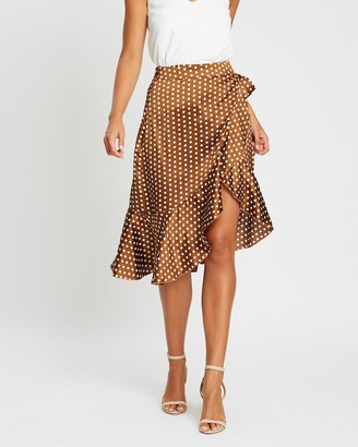 Atmos & Here Wrap Midi Skirt