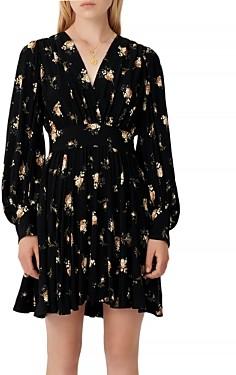 Maje Rasmus Floral Print Skater Dress