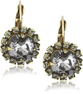 "Liz Palacios Arco Iris"" Silver Night Crystal Earrings"
