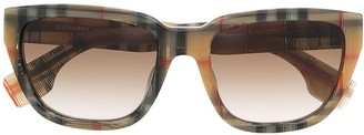 Burberry Icon stripe-print oversized-frame sunglasses