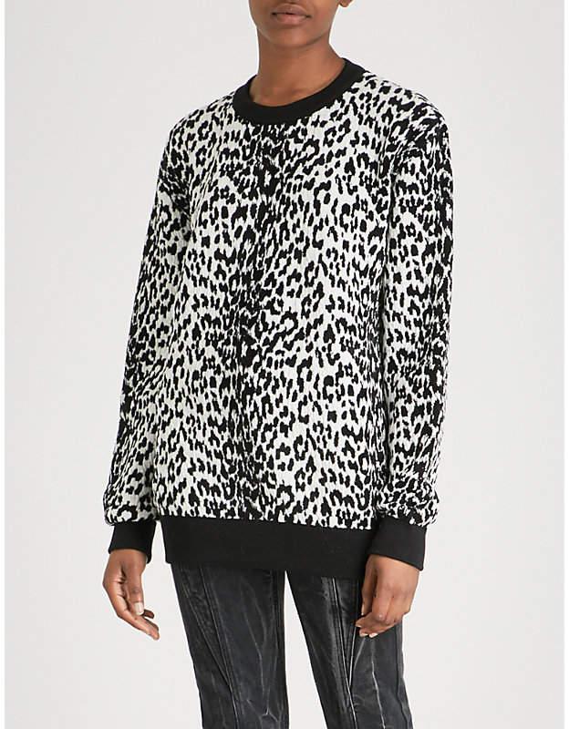 Givenchy Leopard-pattern wool-blend jumper
