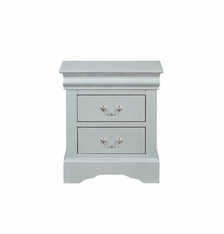 Grove Lane Emily 2 Drawer Nightstand Grovelane Color: Platinum