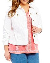 Allison Daley Plus Button Front Denim Jacket