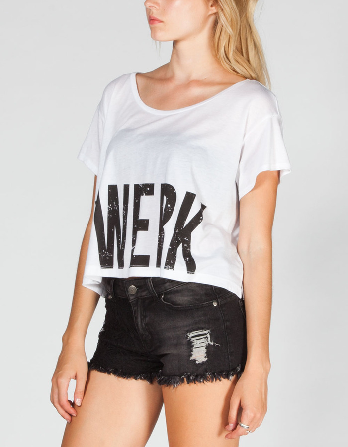 Full Tilt Twerk Womens Crop Tee