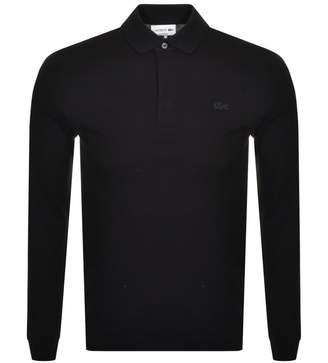 Lacoste Long Sleeved Polo T Shirt Black