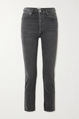 CITIZENS OF HUMANITY - Charlotte Cropped High-rise Straight-leg Jeans - Gray