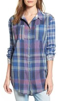 Women's Caslon Plaid & Floral Tunic Shirt