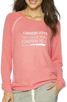Peace Love World Choose Love Sweatshirt