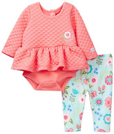 Boppy Flounce Bodysuit & Floral Legging Set (Baby Girls)