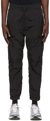 C.P. Company Black Garment-Dyed Cargo Pants