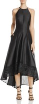 Carmen Marc Valvo Embroidered High/Low Dress