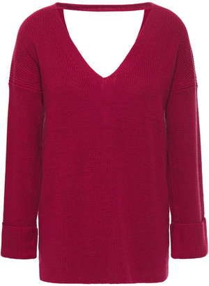 Cotton By Autumn Cashmere Cutout Lace-up Cotton Sweater
