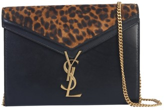 Saint Laurent Cassandra Animal Print Detail Shoulder Bag