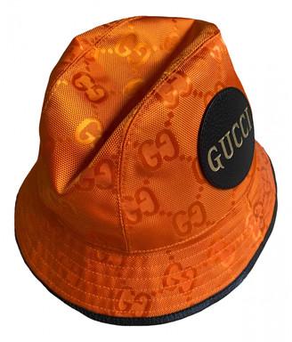 Gucci Orange Cloth Hats