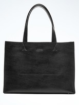 Banana Republic Portfolio Structured Leather Tote