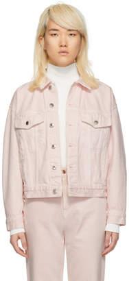 Alexander Wang Pink Denim Game Jacket