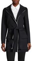 Jil Sander Wool Tie Belt Wrapped Coat