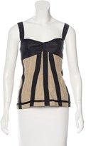 Dolce & Gabbana Linen Bustier Top