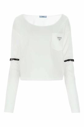 Prada Crewneck Long-Sleeve T-Shirt