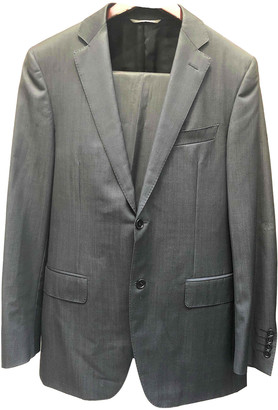 Canali Black Wool Suits