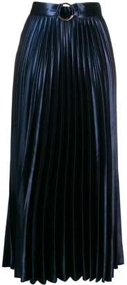 Sandro Paris metallic pleated skirt