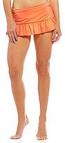 Gibson & Latimer Solid Ruffle Hem Skirt