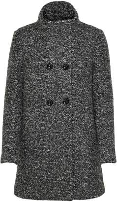 Only Textured Double-Breasted Coat