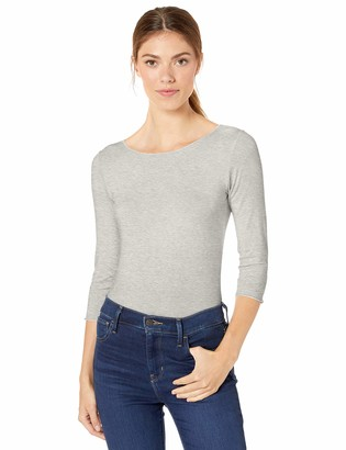 Majestic Filatures Women's Soft Touch Marrow 3/4 Sleeve Boatneck with Purled Edge