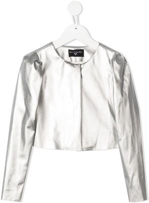 MonnaLisa Metallic Collarless Jacket
