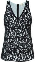 MICHAEL Michael Kors layered lace tank top - women - Cotton/Nylon/Polyester/Viscose - M