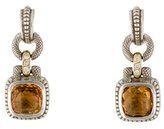 Judith Ripka Citrine & Diamond Drop Earrings