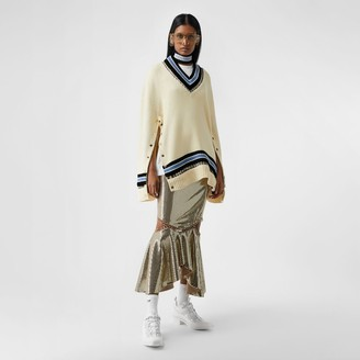 Burberry Ring-pierced Woo Oversized Cricket Sweater